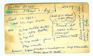 Original Recipe Card