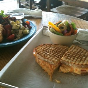 Pimiento Cheese Sandwich, Tortellini Salad