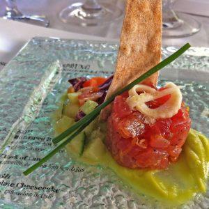 Ahi Tuna Tartare with Avocado Mousse