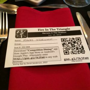 Fire in the Triangle Placecard