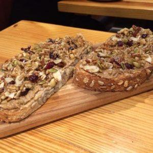 Granola Almond Butter Toast